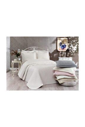 İpekçe Home Ipekçe Exculisive Nakışlı Yatak Örtüsü Ç.k Point Krem-pudra