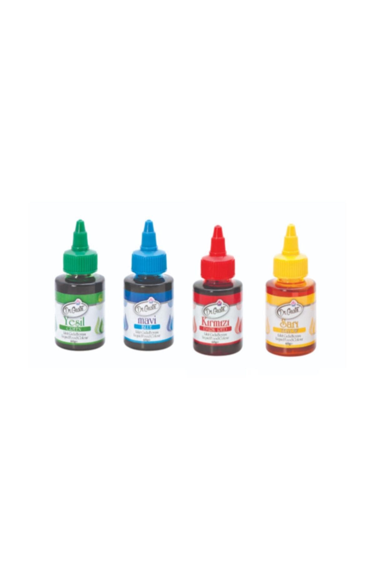 Dr. Gusto 4 Adet Sıvı Gıda Boyası 60gr 1