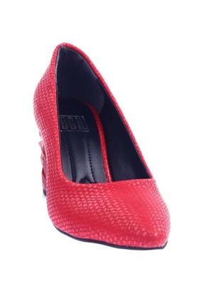 DGN Kırmızı Hasır Kadın Topuklu Ayakkabı 1101-1609