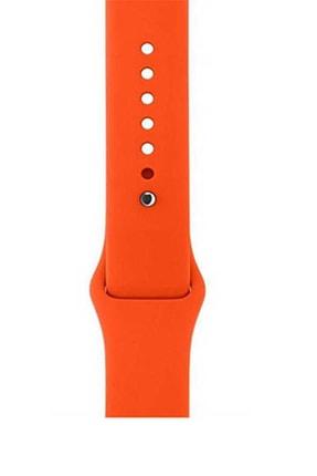 Aksesuarcım Apple Watch 2. Nesil 38 mm Pastel Renkli Silikon Koruma Saat Kordonu