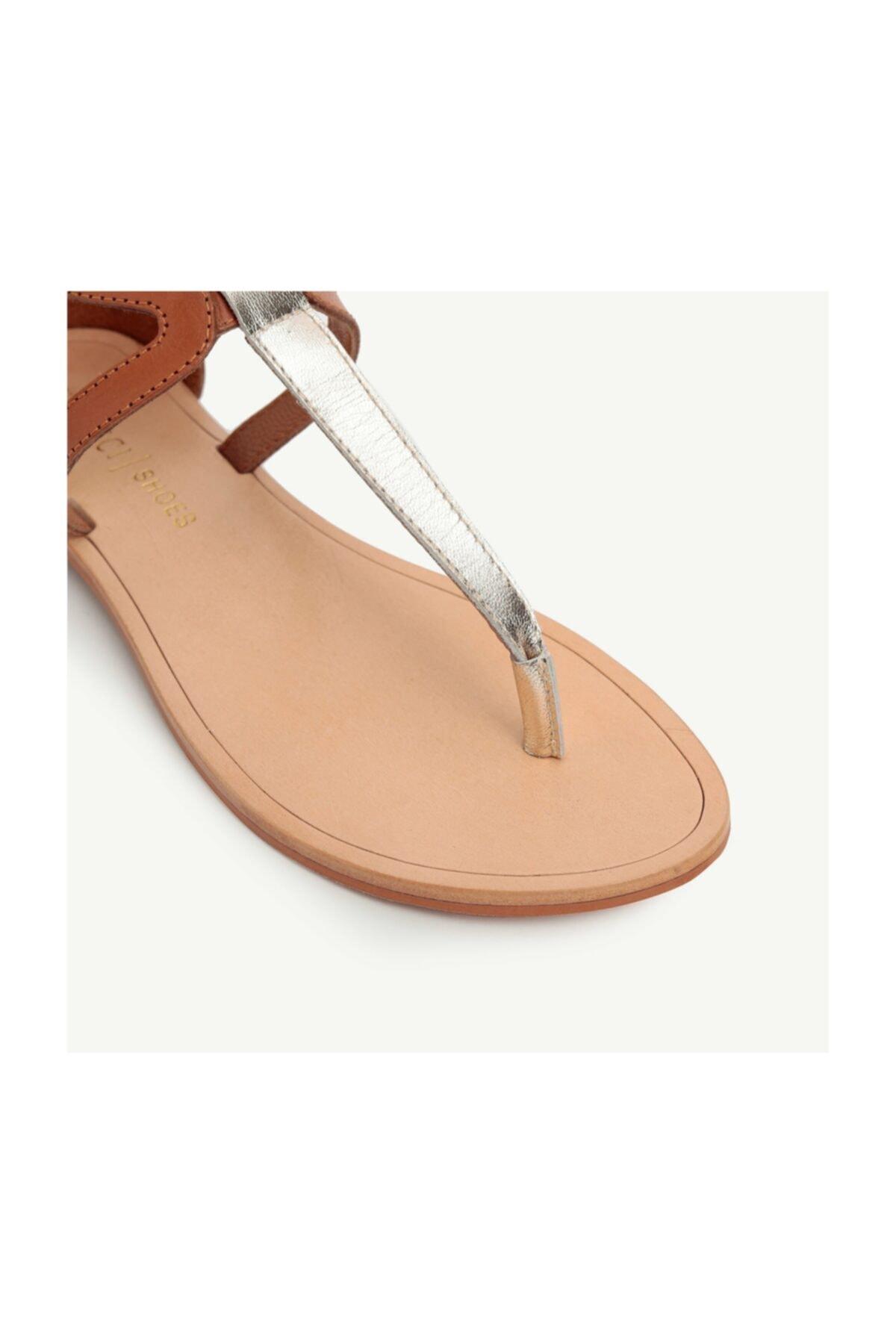 Yargıcı Kadın Deri Sandalet 2