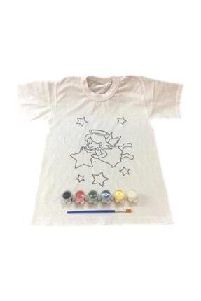 Joy and Toys 6-7 Yaş Tişört Boyama Seti+kumaş Boyama+melek Kız Desenli