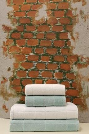 Özdilek Ramona 4'lü Banyo Havlu Seti Mint Beyaz