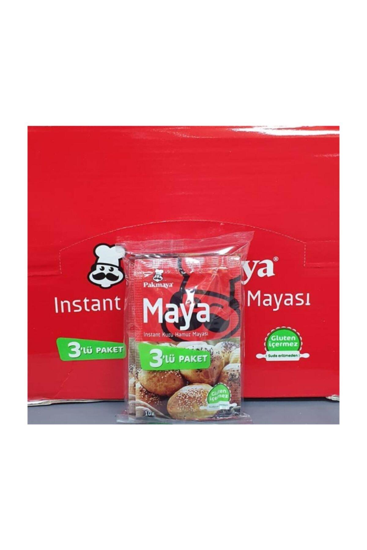 Pakmaya Kuru Maya Instant 10gr 3lü *24 Paket 1