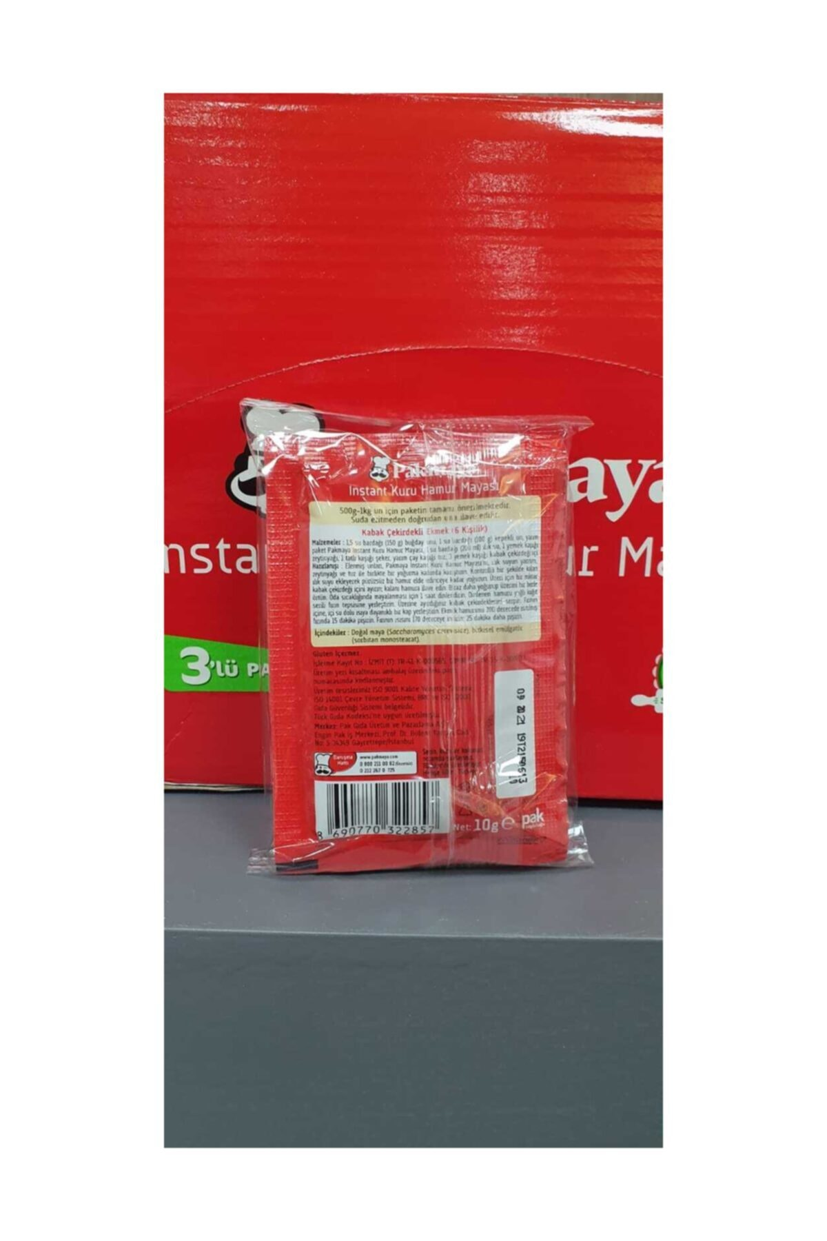 Pakmaya Kuru Maya Instant 10gr 3lü *24 Paket 2