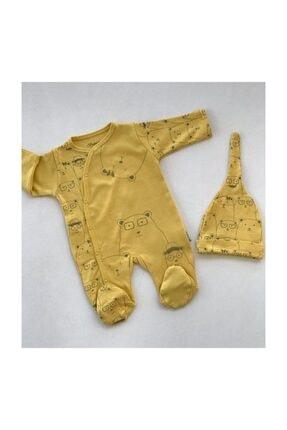 Bebitof Baby Bebitof Toplu Ayılar Şapkalı Tulum