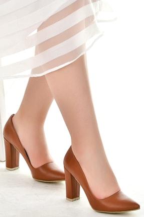 Ayakland Günlük 8 Cm Topuk Kadın Cilt Ayakkabı 137029-311