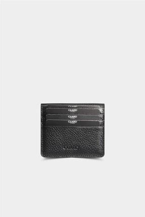 Guard Leather Siyah Patlı Tasarım Deri Kartlık