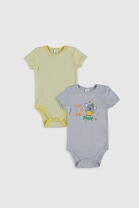 LC Waikiki Erkek Bebek Kırıkbeyazmelanj Cx8 Bebek Body & Zıbın