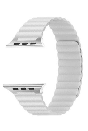 Aksesuarcım Apple Watch 2. Nesil 44mm Mıknatıslı Deri Loop Saat Kordonu