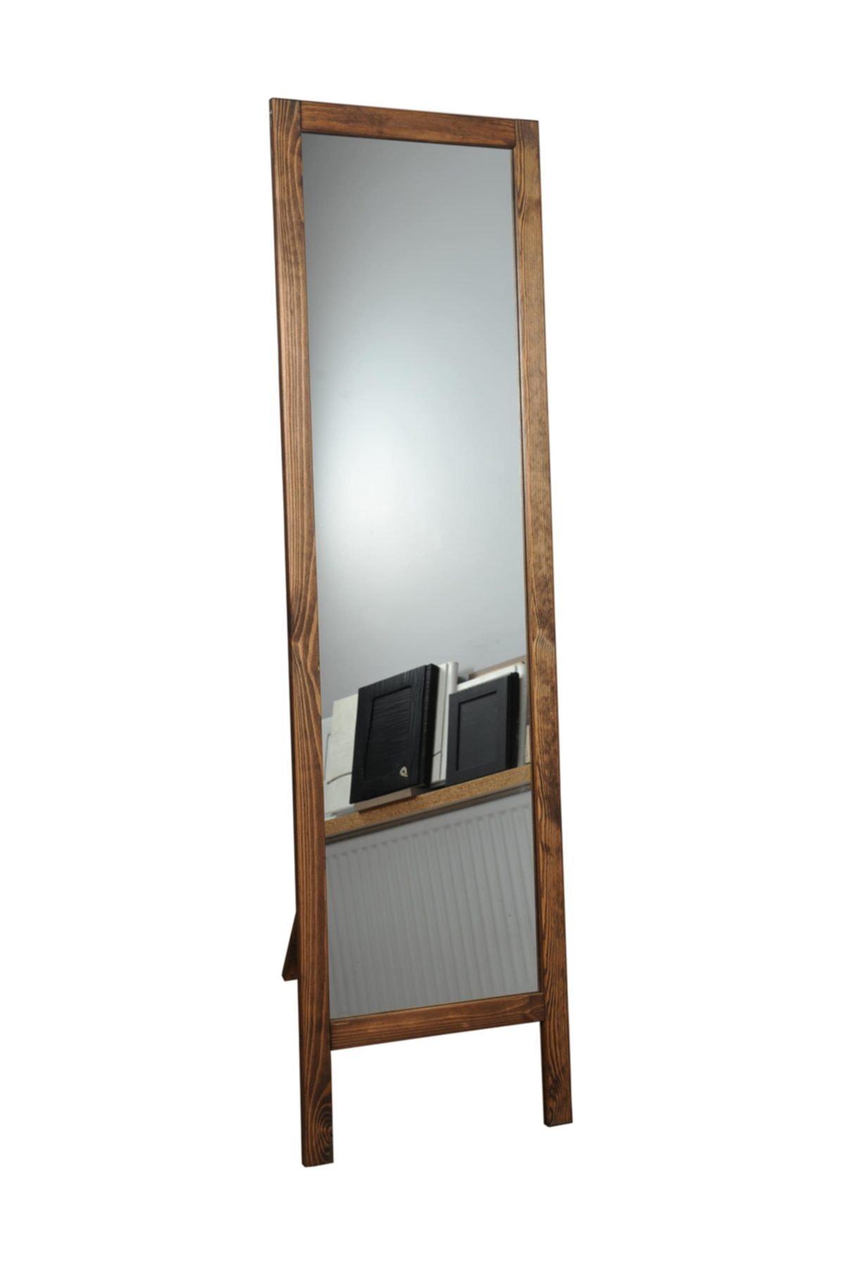 Max Ayaklı Boy Aynası Masif Ahşap 41x145 cm 1