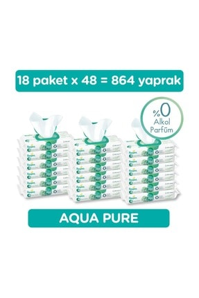 Prima Pampers Aqua Pure Islak Havlu 18 Paket 864 Yaprak