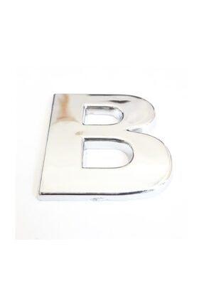 Cemax B Harfi  3,75 cm Krom Yapışkanlı