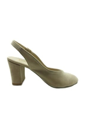 Almera Topuklu Bayan Ayakkabı - Ten-süet - 650