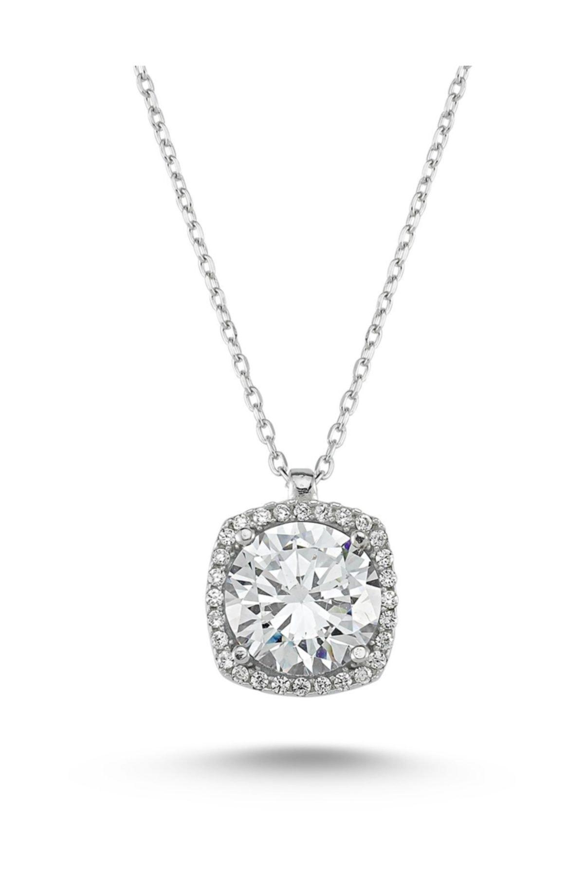 Starlight Diamond 925 Ayar Kare 2'li Gümüş Takı Seti SDSET 2