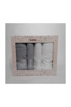 Özdilek Elissa Best Set Hamam Takımı Gri - Beyaz