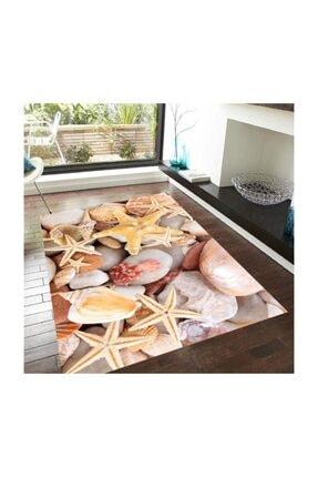 DOĞUŞ HALI 3 Boyutlu Pvc Taban Makinede Yıkanabilir Dekoratif Salon Mutfak Yatak Odası Halısı Yolluk 3d 716