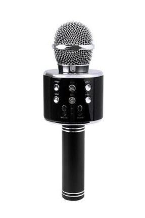Inovaxis Bluetooth Karaoke Mikrofon Speaker Mp3 Çalar Kart Girişli Siyah