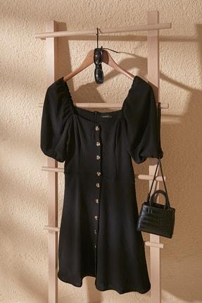 TRENDYOLMİLLA Siyah Düğmeli Elbise TWOSS20EL2314
