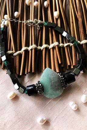 Dr. Stone Dr Stone Luxury Collection Aventurin, Kristal Ve Hematit Taşı 925 Ayar Gümüş Kadın Bileklik