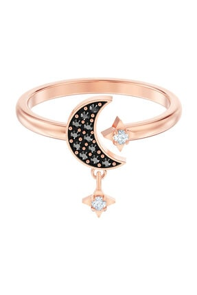 Swarovski Yüzük Swa Symbol:Ring Op Moon Jet/Cry/Ros 52 5515667