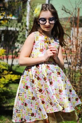 Hilal Akıncı Style Kız Çocuk Tavşan Desenli  Elbise