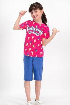 ROLY POLY Delicius Ice Cream Fuşya Kız Çocuk Kapri Takım