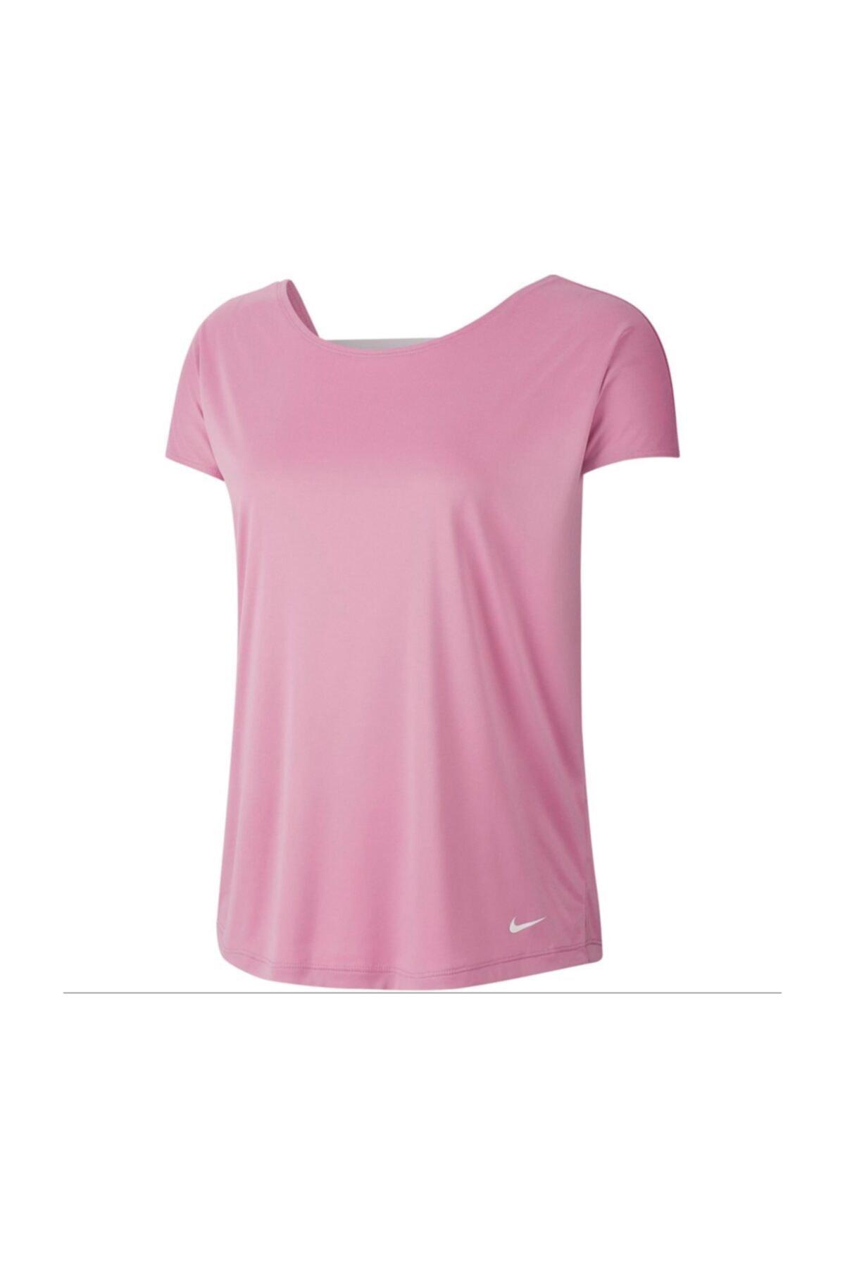 Nike W Np Dry Elastıka Ss Top Essnt Kadın Antrenman Tişört Cj4082-693 1
