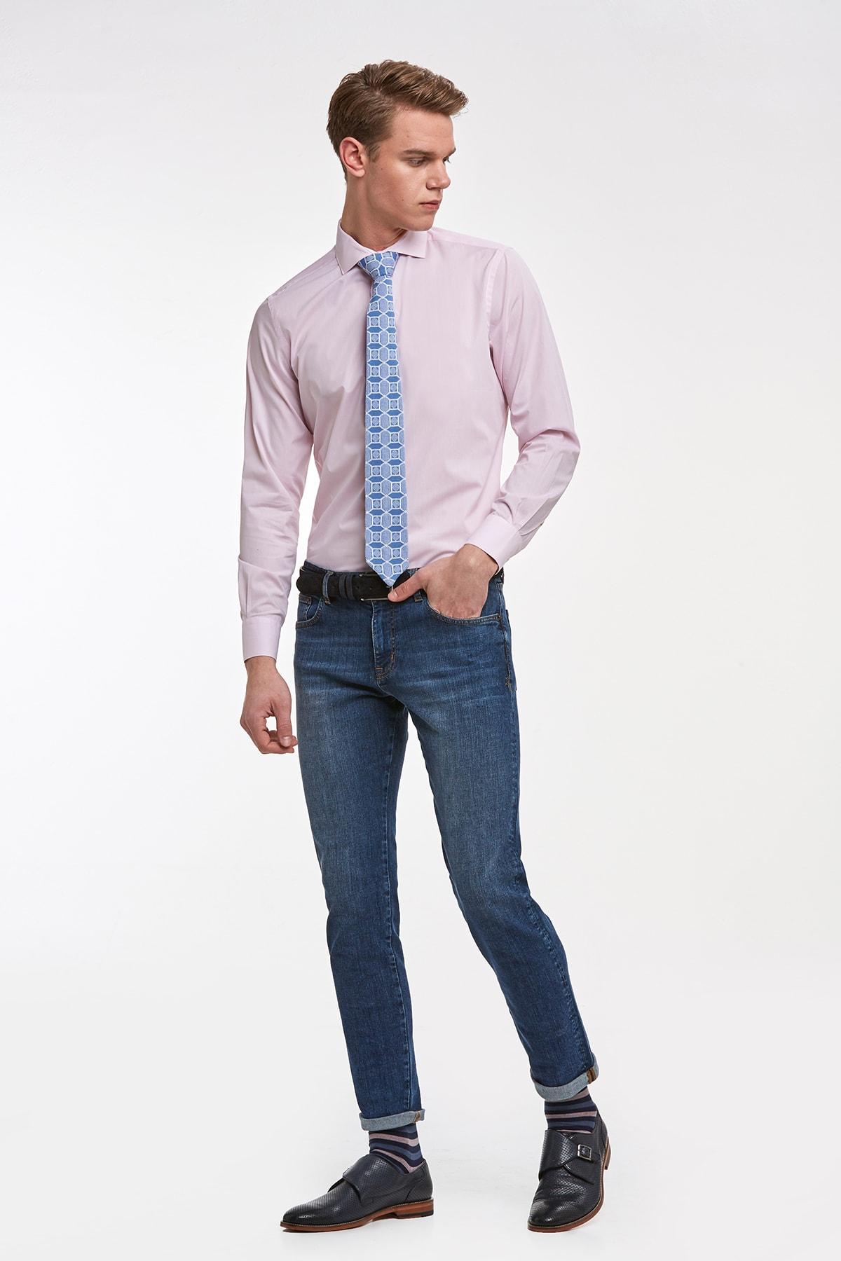 Hemington Pembe Italyan Yaka Pamuk Business Gömlek 2