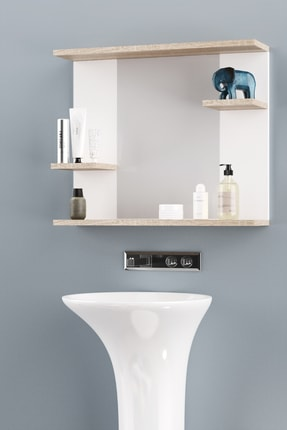 AEKA Ae-2026 Safir Banyo Dolabı Lavabo Üstü Aynalı