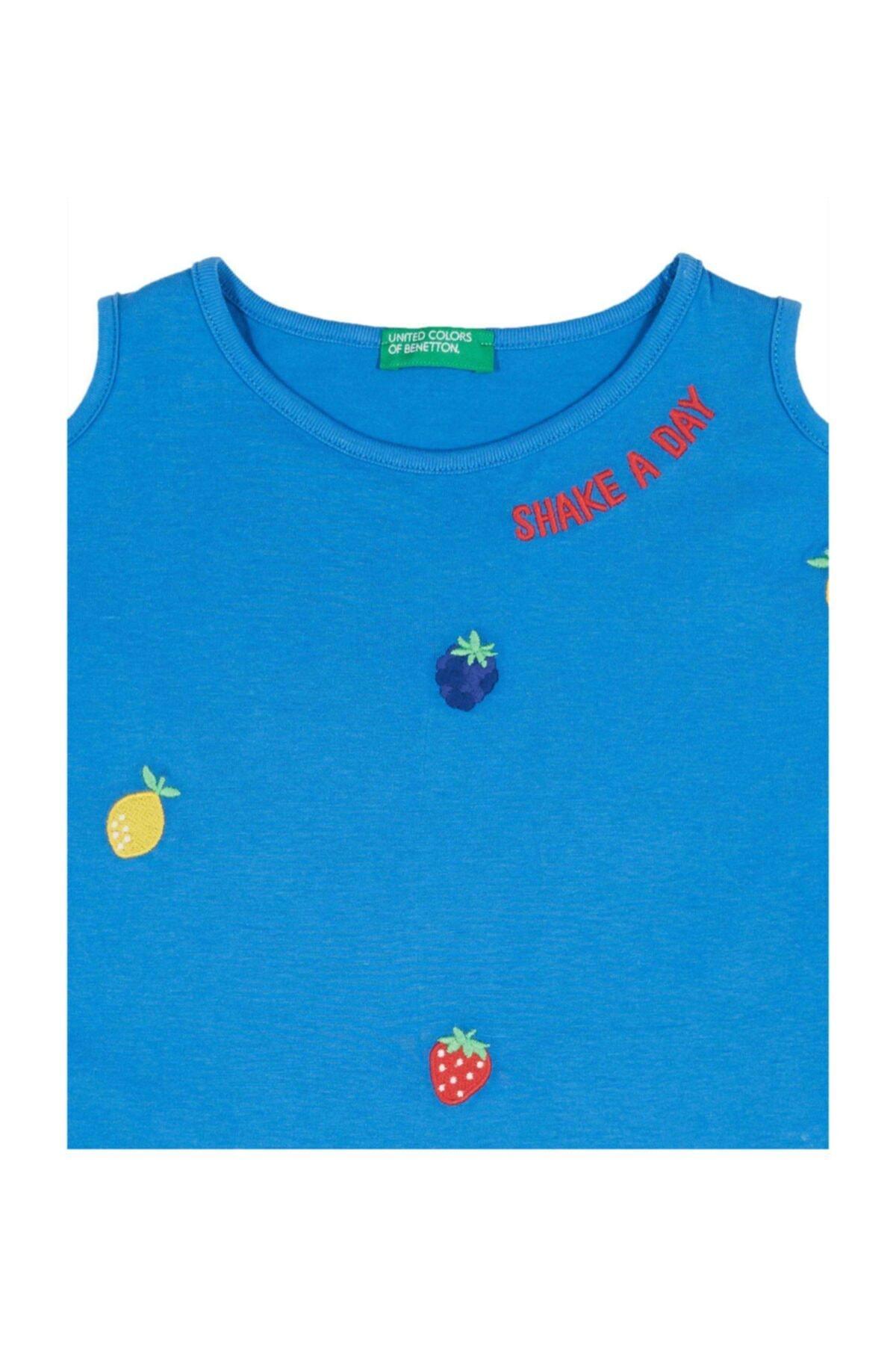 United Colors of Benetton Meyve Işlemeli Açık Omuzlu Tshirt 2