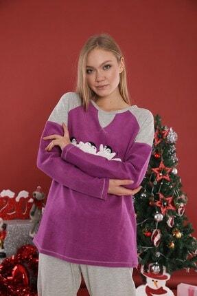 Lohusa Sepeti Kadın penguen Detaylı Pijama Takımı