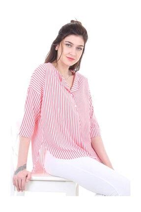 Bigdart Kadın Kırmızı Top Düğmeli Bluz 0355bgd19_006