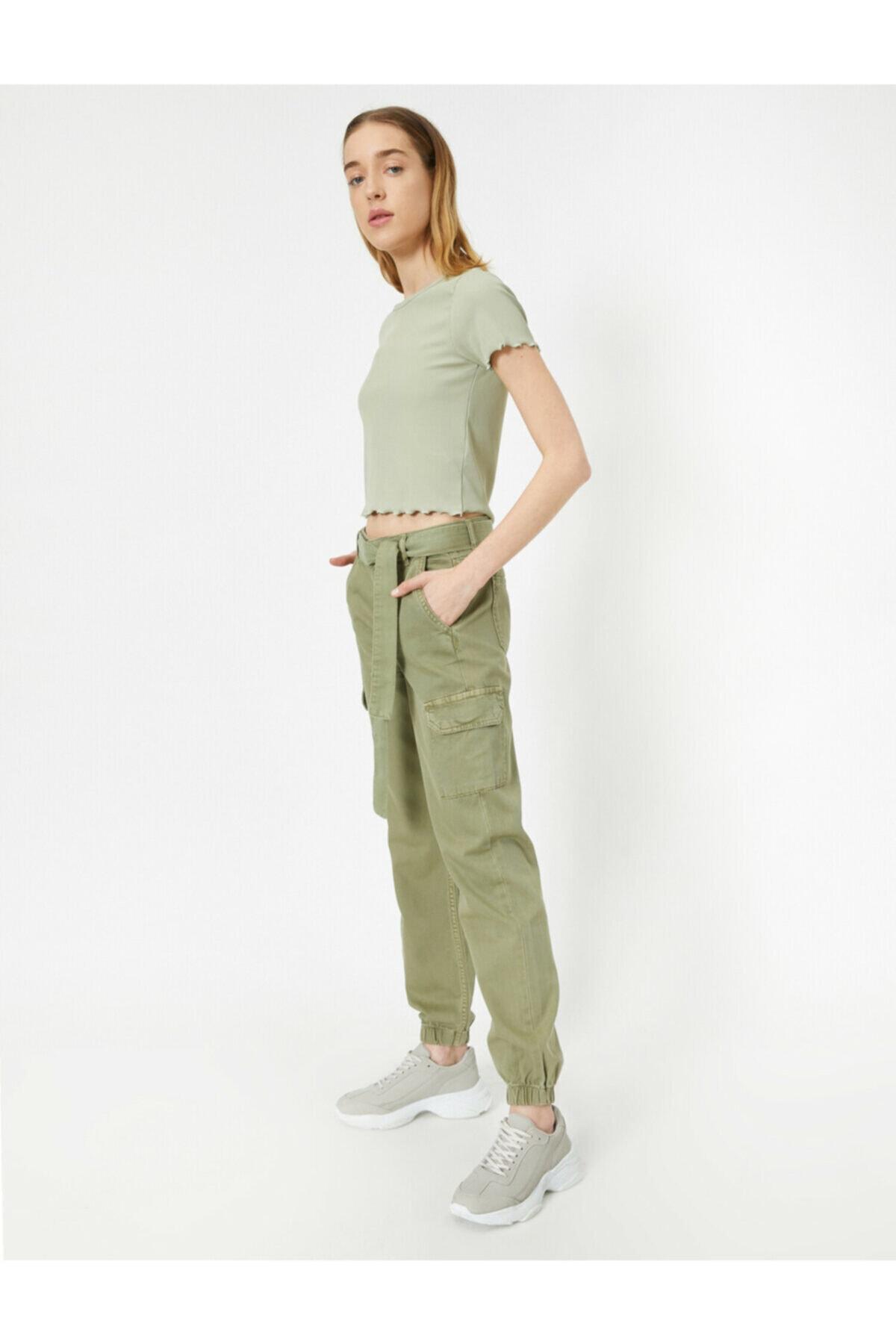 Koton Yeşil Kargo Pantolon 1