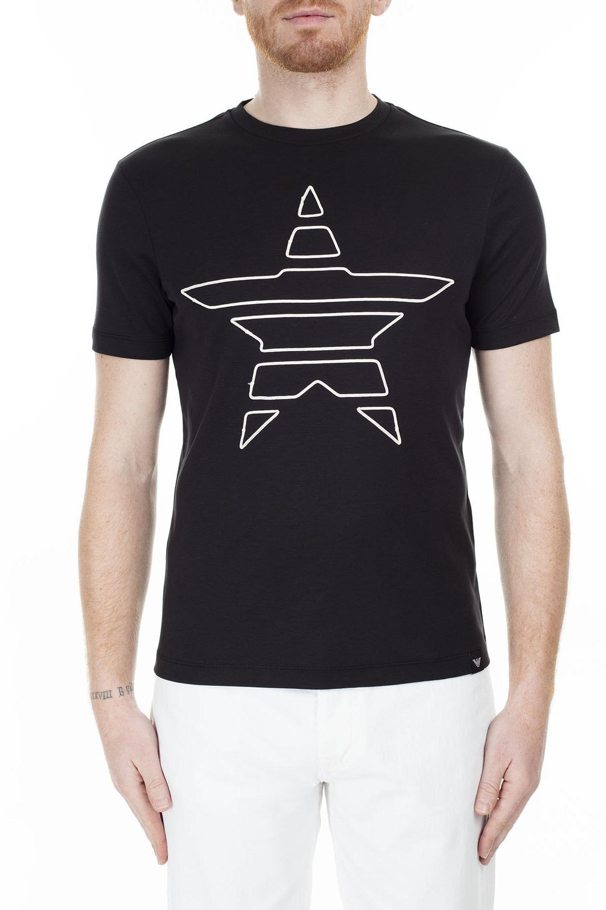Emporio Armani T Shirt Erkek T Shirt S 6G1Te2 1Jprz 0002 S 6G1TE2 1JPRZ 0002