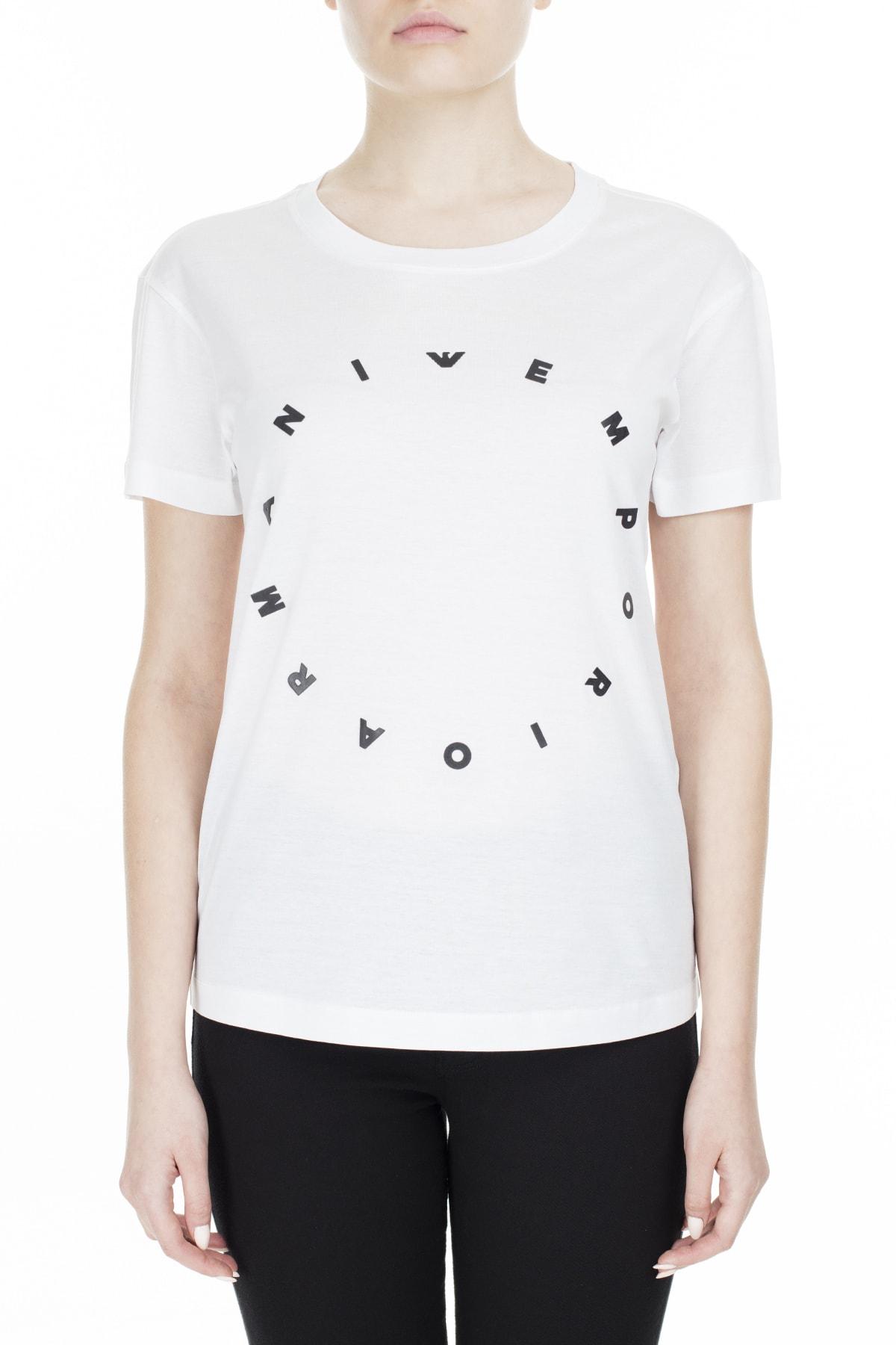 Emporio Armani Regular Fit T Shirt Kadın T Shirt S 6G2T7I 2Jq3Z 0100 S 6G2T7I 2JQ3Z 0100