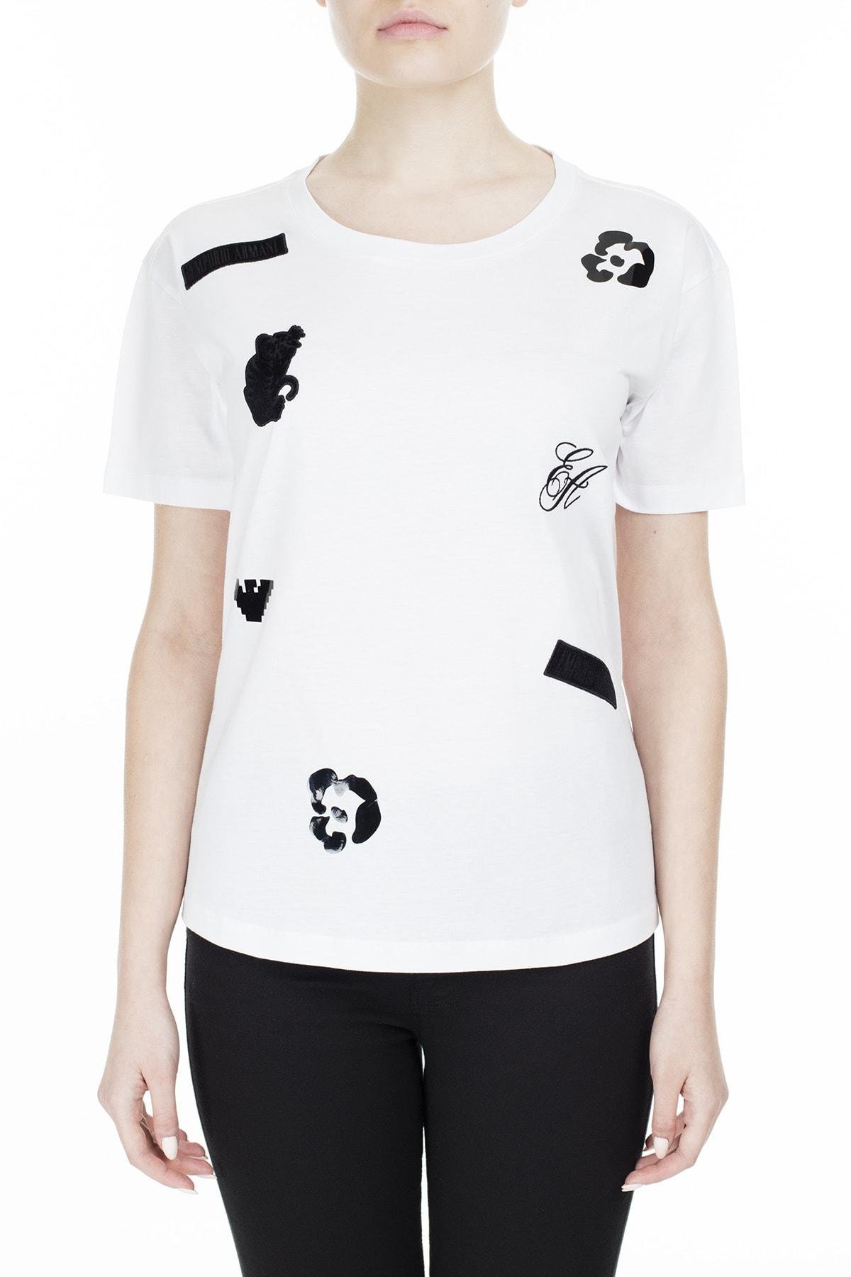 Emporio Armani Regular Fit T Shirt Kadın T Shirt S 6G2T7M 2J95Z 0100 S 6G2T7M 2J95Z 0100
