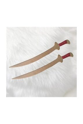 Evmodek Diriliş Ertugrul Oyuncak Tahta Set 1 2'li Kılıç