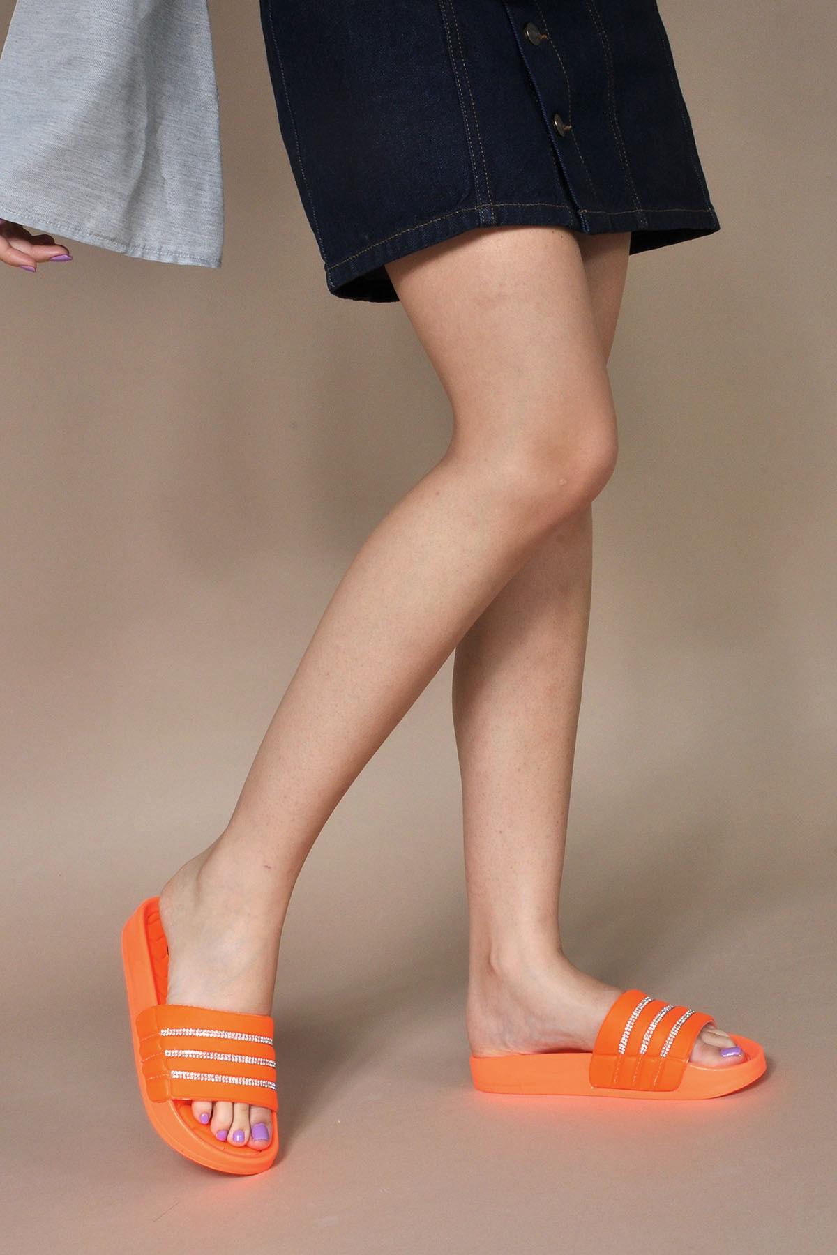 Vizon Ayakkabı Kadın Neon-Turuncu Terlik Vzn20-114y 1
