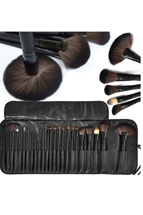 HANNAH 24 Parça Makyaj Fırça Seti Siyah