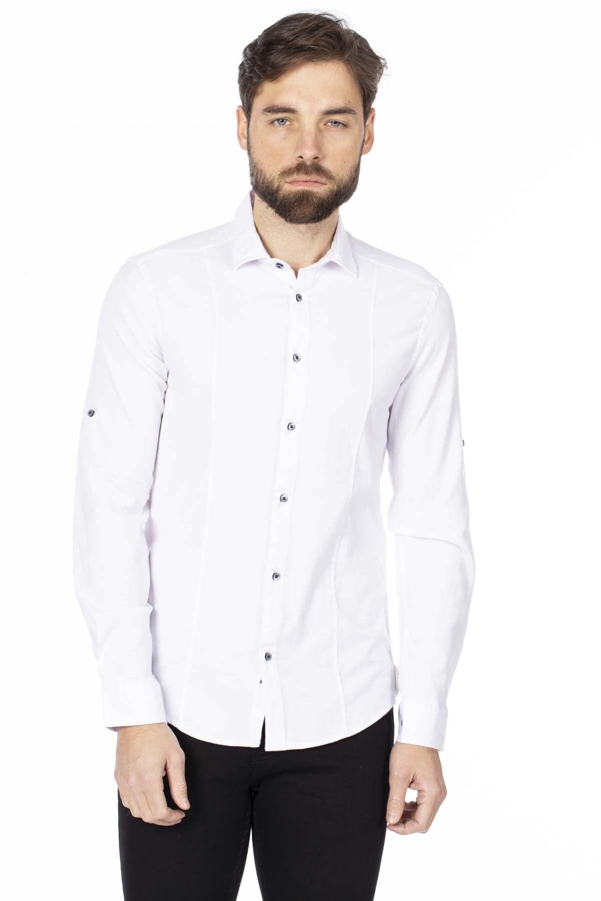BARRELS AND OIL Erkek Beyaz Oxford Gömlek 344-20Y03003.55