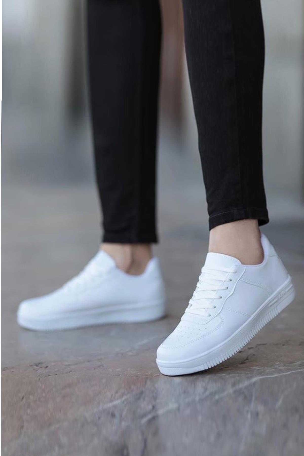 MUGGO Beyaz Unısex Sneaker Ayakkabı 1