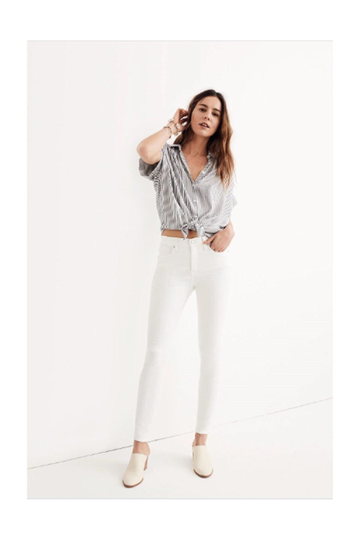 Birce Beyaz Yüksek Bel Skinny Jeans 1