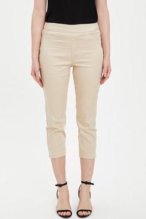 DeFacto Kadın Ekru Kapri Pantolon N8103AZ.20SM.ER215