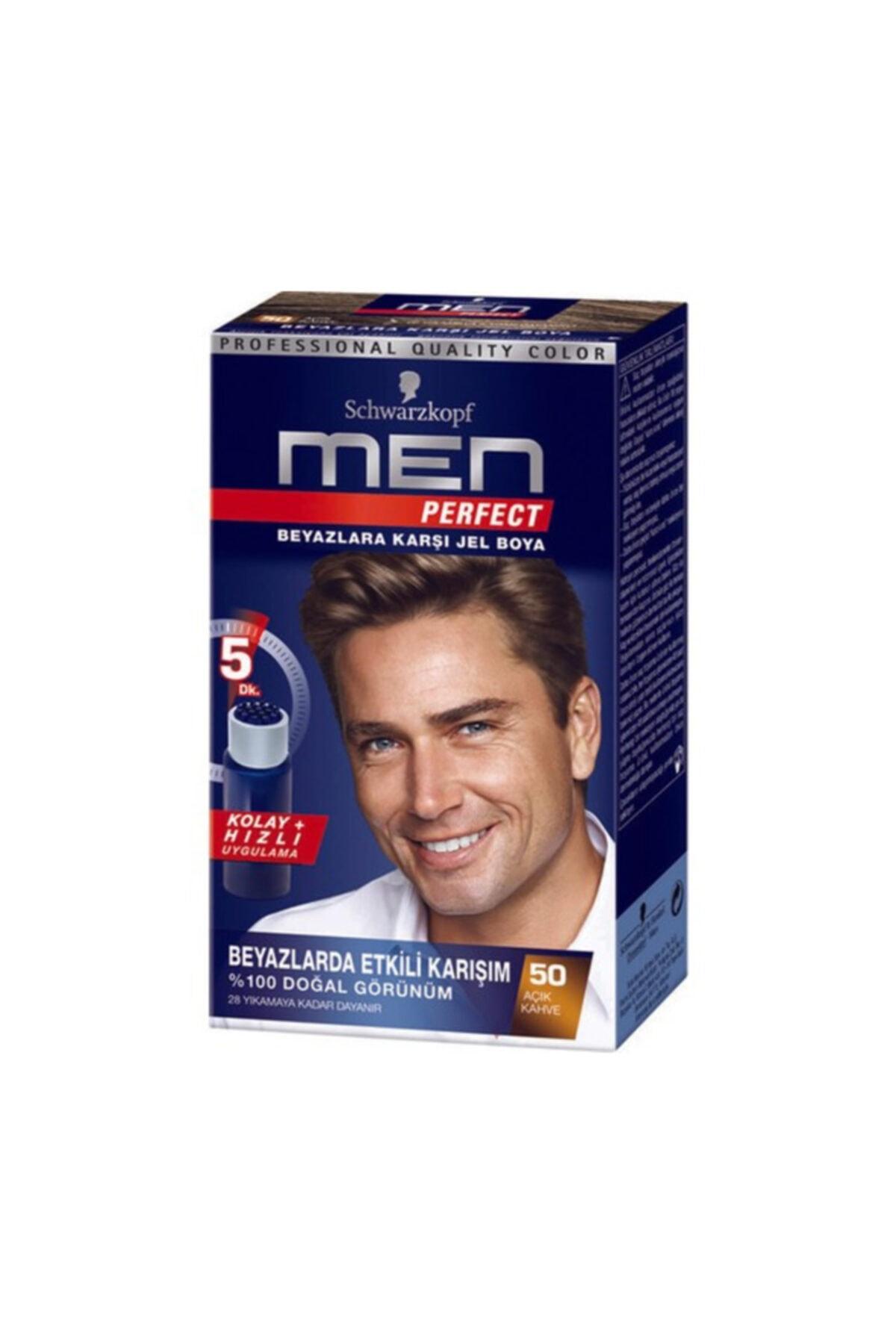 SCHWARZKOPF HAIR MASCARA Men Perfect 50 Açik Kahve 1 Li 1