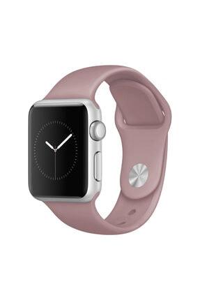 grahambell Apple Watch 42-44 Mm Kordon Spor Kayışı Yumuşak Silikontozpembe