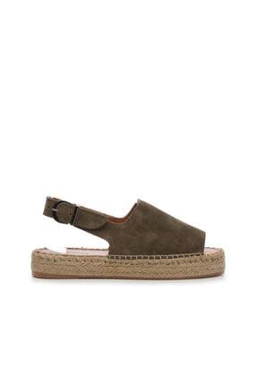 KEMAL TANCA Kadın Deri Espardıl Sandalet 769 S1000 Byn Sndlt Y20