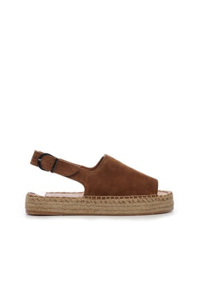 KEMAL TANCA Kadın Derı Espardıl Sandalet 769 S1000 Byn Sndlt Y20