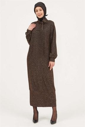 Setrms Işıltılı Fular Yaka Özel Gün Elbisesi
