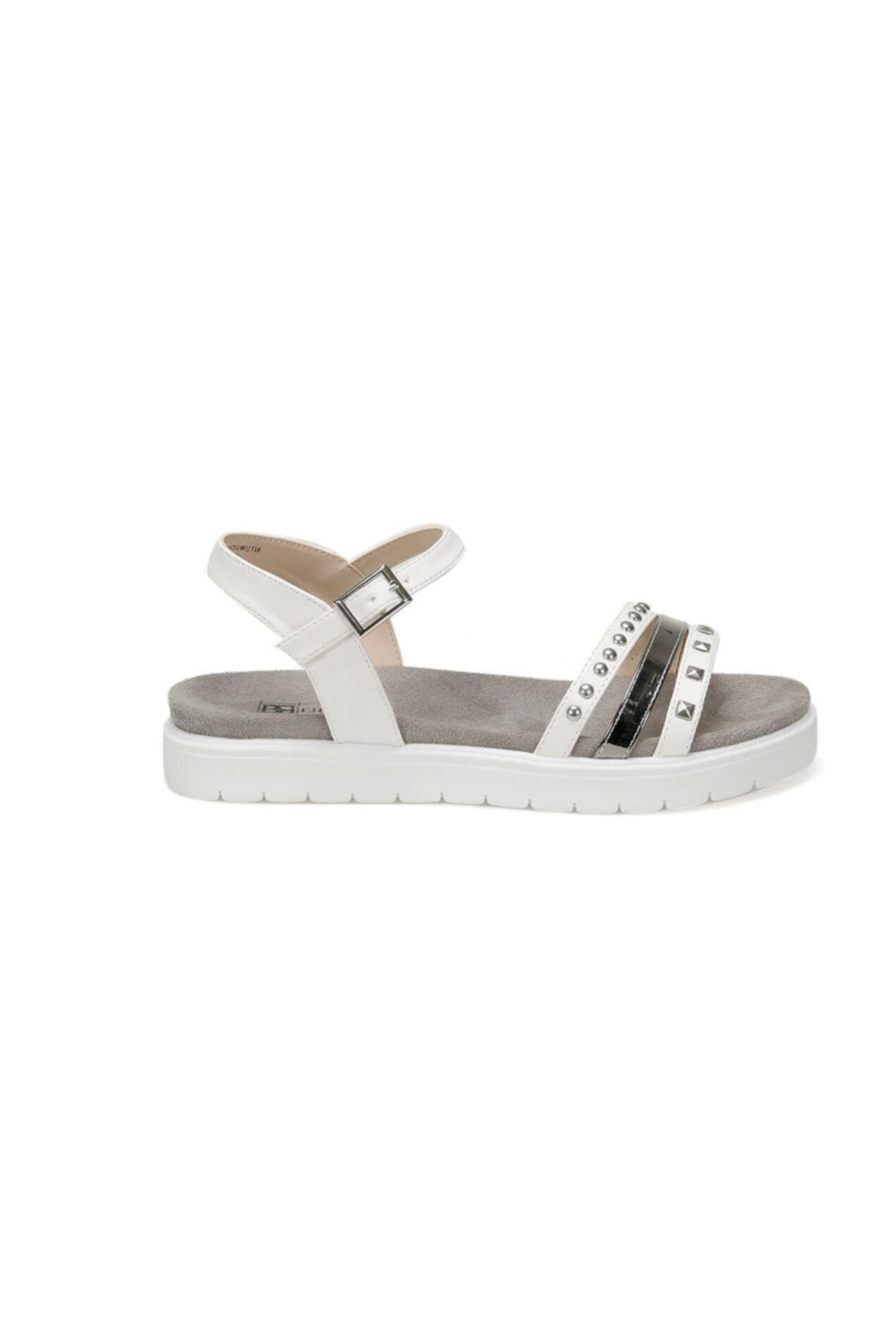 Butigo CS19119 Beyaz Kadın Sandalet 100382561 2
